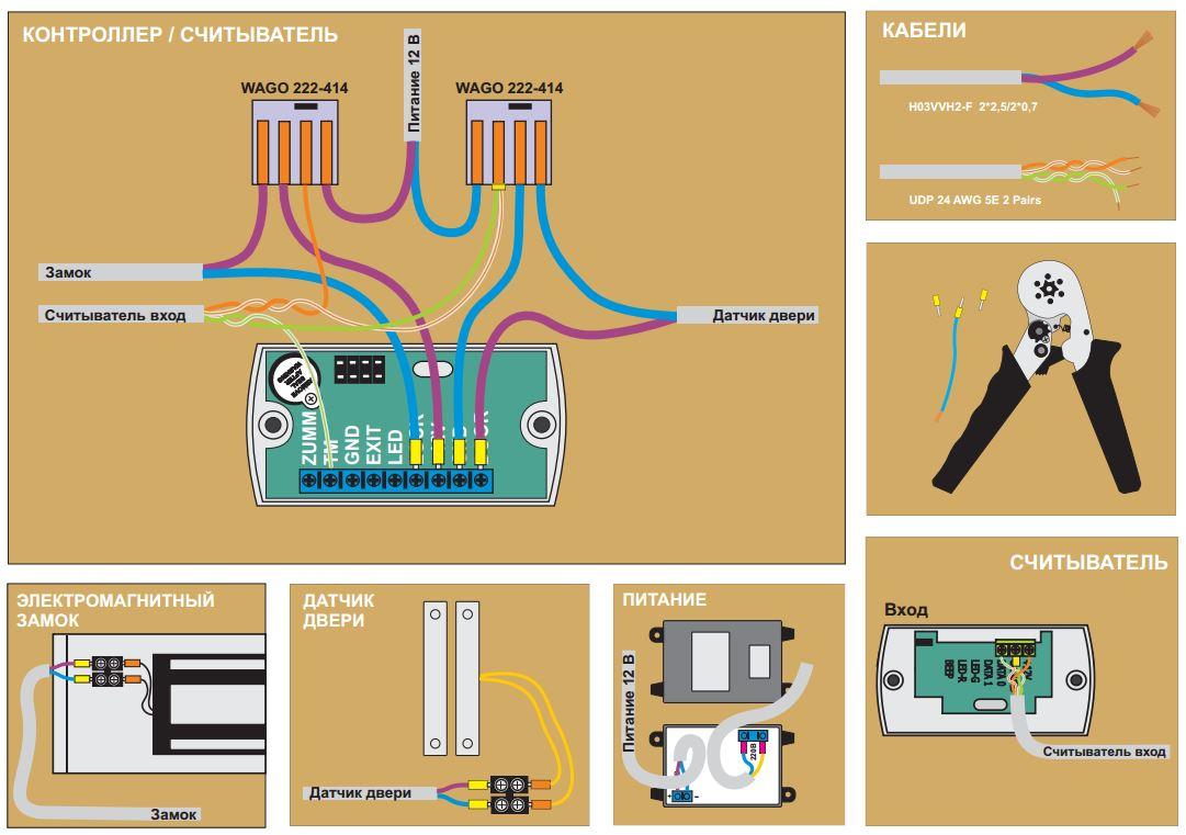 Электромагнитные замки схема подключение